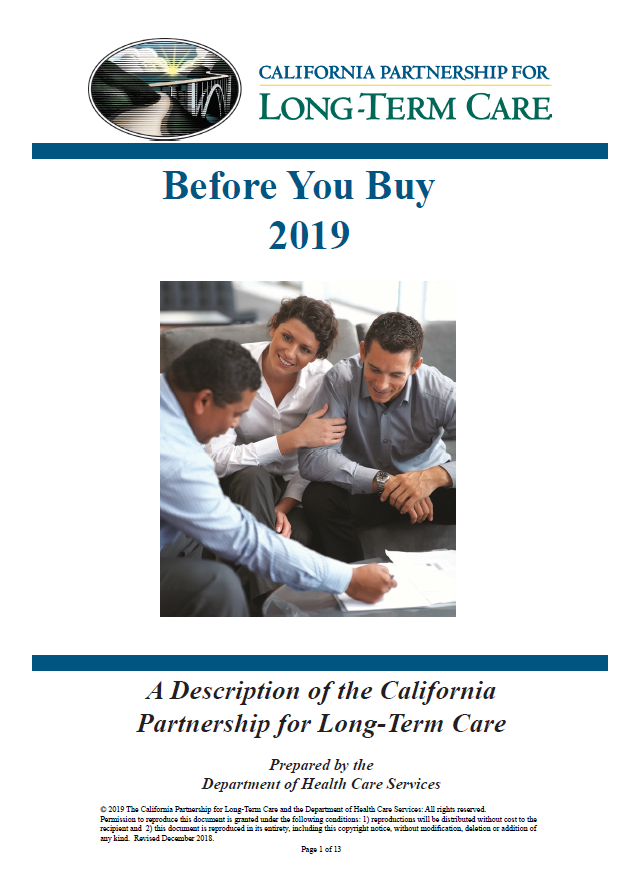 2020 Before You Buy Long-Term Care Insurance